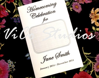 Easy Homecoming Celebration of Life Memorial Funeral Program Template