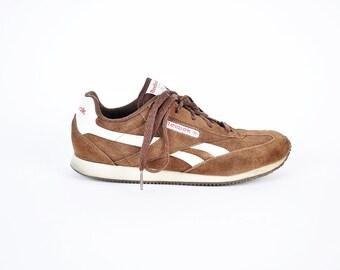 Reebok Sneakers, Women's Size 8, 90s Reeboks, Brown Suede Tennis Shoes, Reebok Trainers, UK 5.5, Retro Sneakers, Lace Up, Womens Reeboks