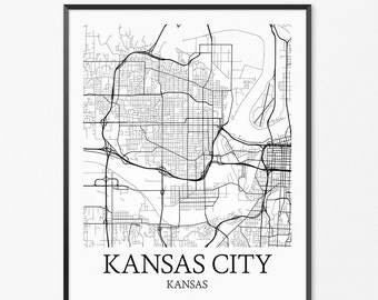 Kansas City Map Print Printable Missouri Map Art Kansas City - Kansas city map