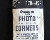 Dennison Black Photo Mounting Corners