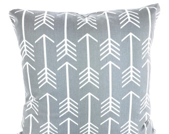 Gray White Pillow Cover Decorative Throw Pillows Cushions Storm Grey White Arrow Pillow Covers Throw Pillow Couch Bed Sofa ALL SIZES
