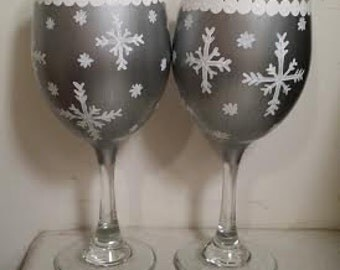 Snowflake Wine Glass