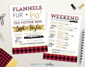 Flannels Fur and Fizz Bachelorette Invite | Winter Bridal Shower Invite | Weekend Itinerary | Holiday Party Invite | Winter Bachelorette