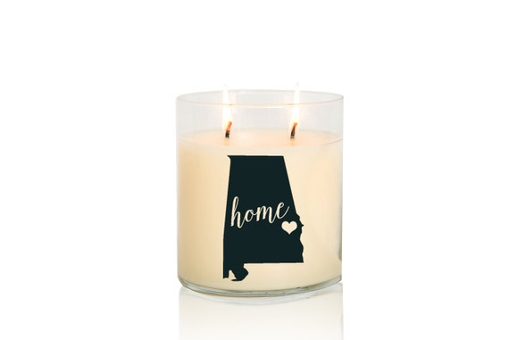 alabama state candle creme brulee vanilla scented candle hand