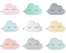 Cloud Pillow - Nine Colors - white, blue mint, pale yellow, pale pink, baby blue, turquoise, light coral or gray, Cloud Cushions.