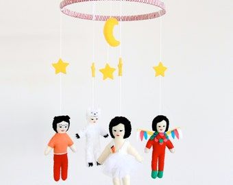 Bjork Baby Crib Mobile / Bjork Volta baby mobile/ Hunter / Swan Dress / Venus As a Boy/ Baby Gift / Nursery Decor