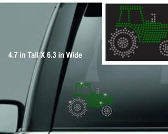 Rhinestone Farm Tactor decal, Farm Life decal, Tractor Decal