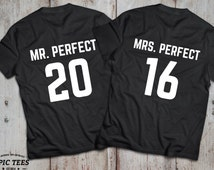 His and hers, Couple shirts, Love shirts, Mr Perfect, Mrs Perfect, Funny shirts UNISEX