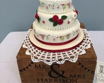 Wedding Cake Stand 20 inch Shabby Chic Table Center Piece Vintage Style