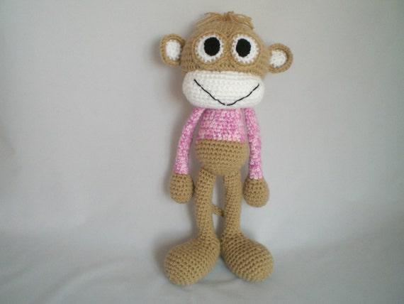 Cheeky Monkey Amigurumi Crochet Pattern : Crochet Monkey Soft Toy / Amigurumi Cheeky Monkey soft toy