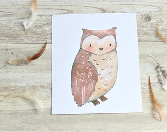Woodland Nursery Decor, Woodland printables, Woodland Wall Art Nursery, Owl Nursery Decor, Animal Prints for Kids, Owl Nursery Print