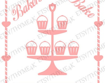 "Cutting File SVG ""Bakers Gonna Bake..."" Instant download -  Make t-shirt HTV, sign stencil, card, etc."