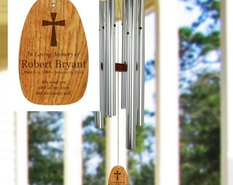 Engraved In Loving Memory Wind Chimes , Custom Wind Chimes , Memorial Wind Chimes