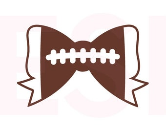 Football Bow SVG, DXF, EPS, svg cutting files for use in Silhouette Studio and Cricut Design Space. Football svg files, Sports svg files.
