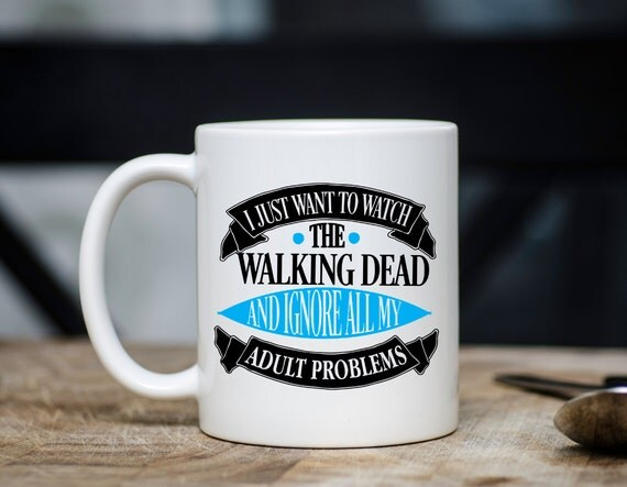 WALKING DEAD | Ignore Adult Problems | Message Mugs | 11 oz.