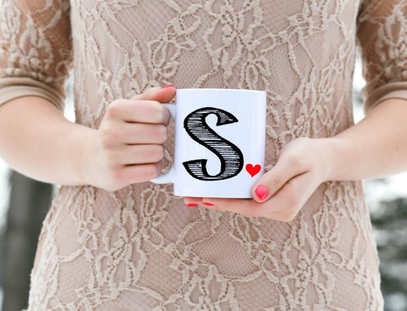 Custom Initial Mug with heart | 11 oz.