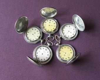 Pocket Watch Case, Watch Pendant, Vintage Watch Case, Steampunk Supplies, Pocket Watch Parts, Steampunk Watch Case, Empty Watch Case
