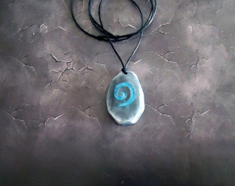 World of Warcraft inspired glow in the dark Hearthstone necklace