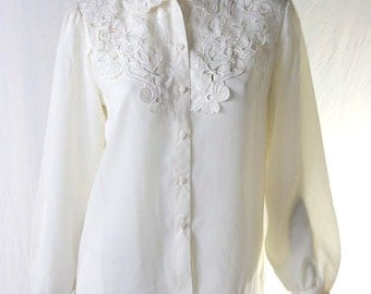60s embroidered vintage blouse