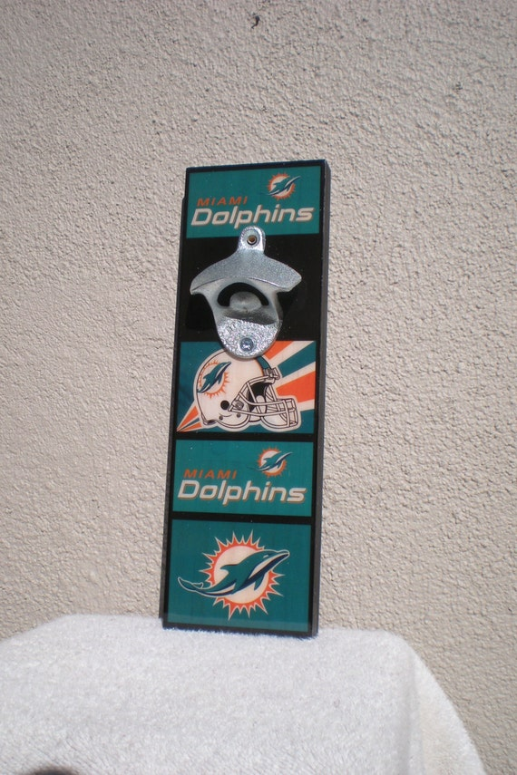 Cool Miami Dolphins Bottle Opener Wall Mounted