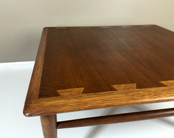 "Vintage Lane Acclaim Mid Century Danish Modern Dovetail Coffee Table 32"" Square"