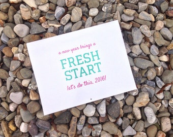 FRESH START 2016 inspirational monthly wall calendar