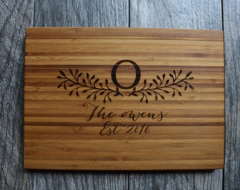 Personalized Cutting Board Wedding Gift Engraved Cutting Board Custom Wedding Gift Engagement Gift Personalized Wedding Gift for couples
