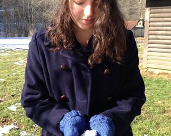 Entrelac Handknit Winter Hat