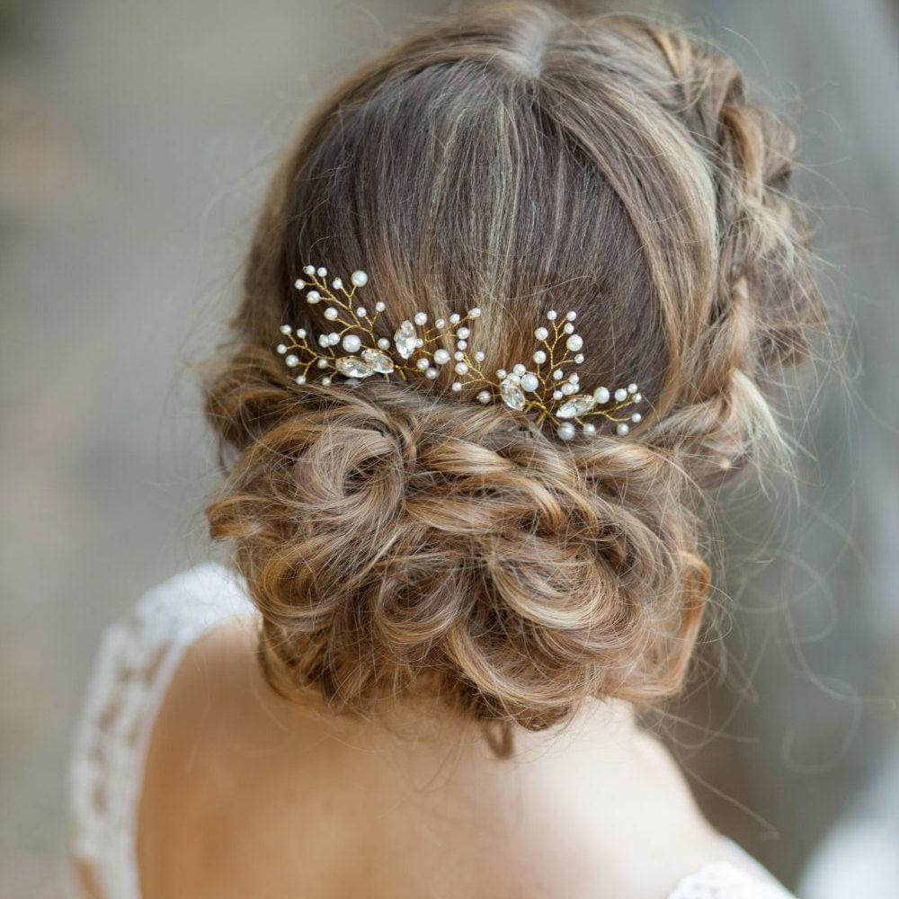 Bridal Hair Pins Wedding Hair Pins Pearl Hair Pins With