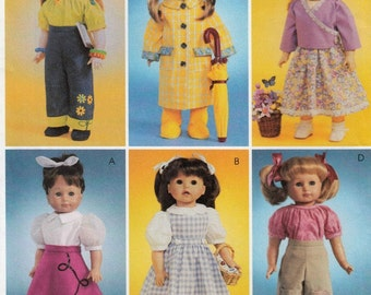 American Girl Doll Clothes Sewing Pattern, 18 Inch Doll Costumes Sewing Patterns, Doll Clothes Uncut Sewing Pattern, McCalls Crafts 4066