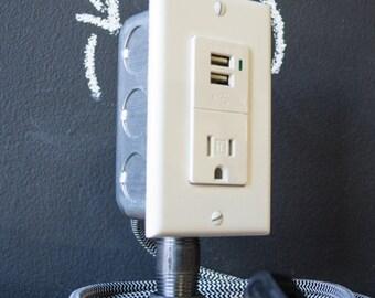 Industrial Desk USB Charging Station