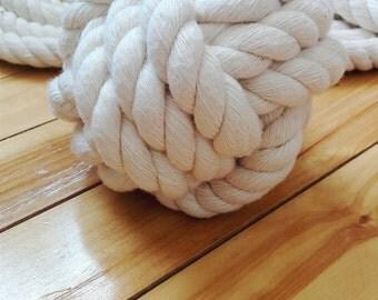 Nautical Wedding Rope Table Number Holder, Wedding Rope Knots, Wedding Monkeys Fist Rope