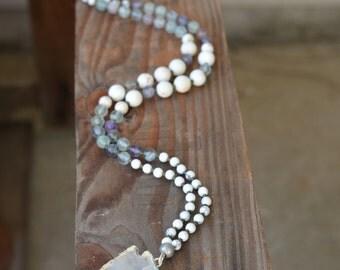 Boho Quartz Arrowhead Gemstone Long Necklace