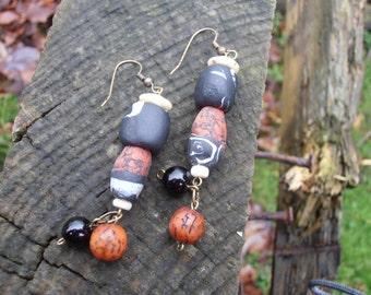Africa inspired dangle earrings