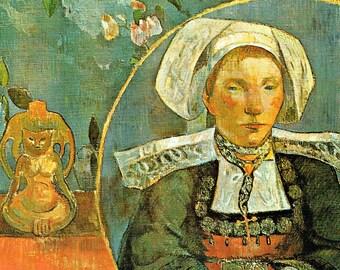 la Belle Angele, la Belle, Belle Angele, la Belle Angele Gauguin, la Angele, Gauguin la Belle Angele, Gauguin la, Paul Gauguin Prints