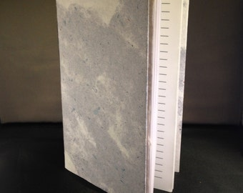 Softcover art journal with blank pages, with handmade paper cover