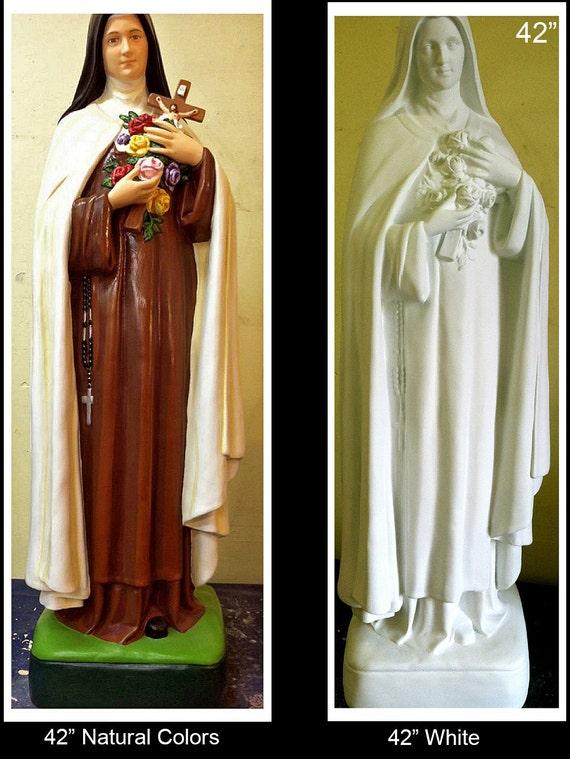 "St. Theresa of Lisueux 42"" & 60"" Fiberglass Catholic Christian Religious Statue"