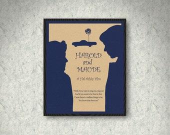 Harold and Maude Movie Poster Print, Minimalist Poster, Cat Stevens, Home Decor, Print Art Poster, Gift, Love