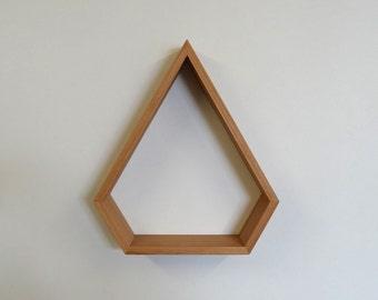 Gem Wooden Shelf // Geometric Shelf // Blackbutt
