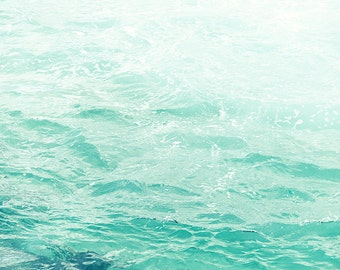 Water Photography, Ocean Photograph, Aqua Blue Water, Water Ripples, Sea, Coastal Wall Art, Beach Decor, Extra Large Wall Art, Pacific Ocean