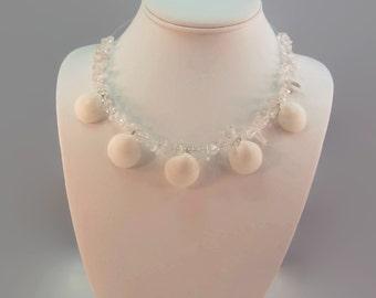 White Beach Wedding Necklace Seashell Wedding Boho Wedding Beach Wedding Jewelry Sea Shells Wedding Mermaid Wedding Beach Bride Boho Bride