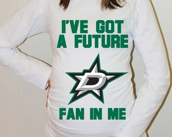 Dallas Stars Baby Dallas Stars Shirt Long Sleeved Women Shirt Funny Pregnancy Shirts Pregnancy Clothing