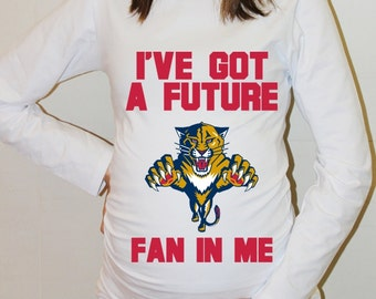 Florida Panthers Baby Florida Panthers Shirt Long Sleeve Hockey Maternity Maternity Shirt Funny Pregnancy Pregnancy Clothes