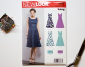 Womens sewing pattern New Look 6393 / Easy dress Sewing pattern / Multi size 8 to 18 Euro 34 to 44 / Beginner sewing project