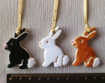 Easter bunny pottery decorations