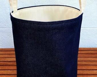 Large Laundry Basket Luxury Jute Hessian Burlap Storage