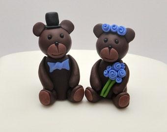 Brown Bear Wedding Cake Topper