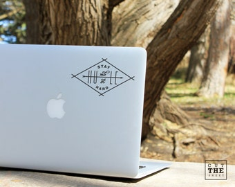 Stay humble hustle hard - Laptop Decal - Laptop Sticker - Car Decal - Car Sticker