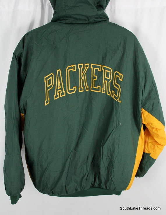 vtg Green Bay Packer winter Jacket by competitior official NFL
