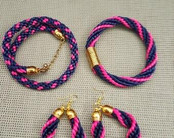 Set Twine Bracelets and Earrings.